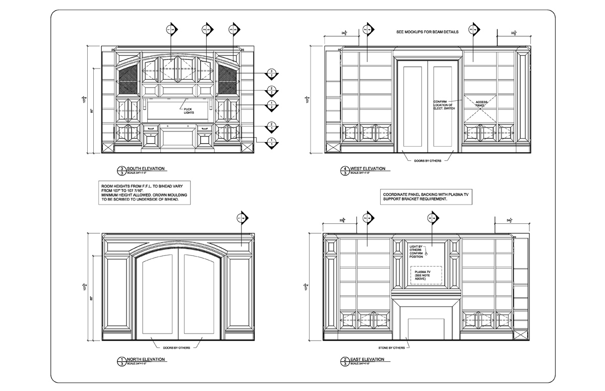 Index for Residential architectural drawings